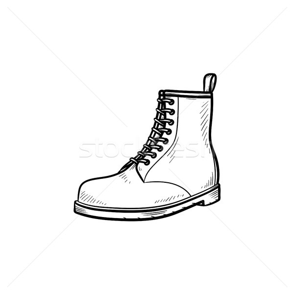 Hiking boot hand drawn outline doodle icon. Stock photo © RAStudio