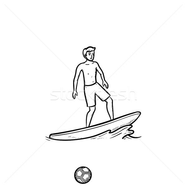 男性 ファー 手描き いたずら書き アイコン ストックフォト © RAStudio