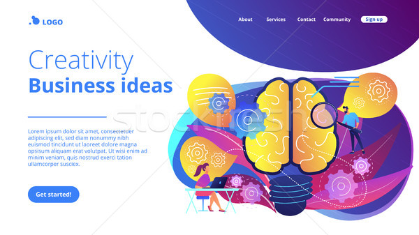 Сток-фото: креативность · бизнеса · посадка · страница