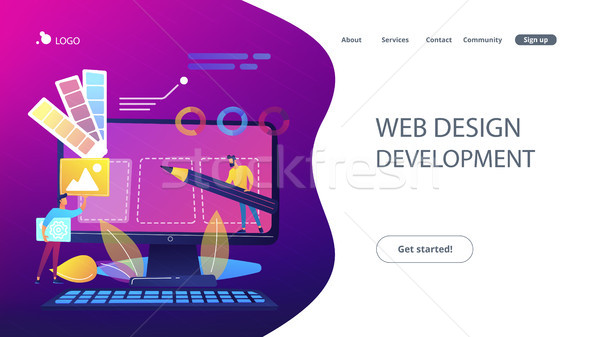 Web design development concept vector illustration Stock photo © RAStudio