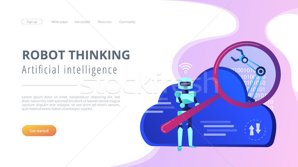 Cloud robotics concept vector illustration. Stock photo © RAStudio