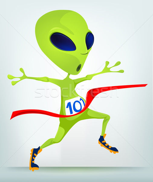 Cartoon_Character_ALIEN_063_CS5 Stock photo © RAStudio