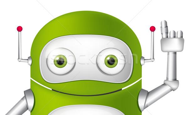 Android odizolowany biały wektora szczęśliwy Zdjęcia stock © RAStudio