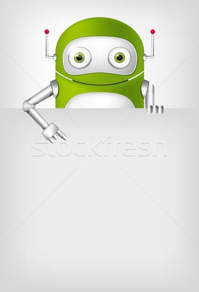 緑 ロボット 実例 ベクトル eps ストックフォト © RAStudio