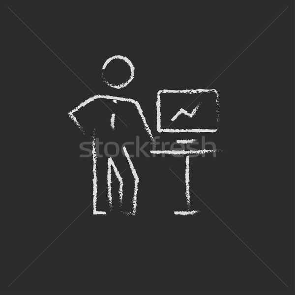 Business presentation drawn in chalk Stock photo © RAStudio
