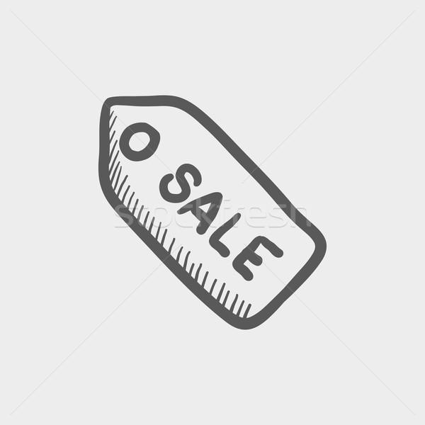 Sale tag sketch icon Stock photo © RAStudio