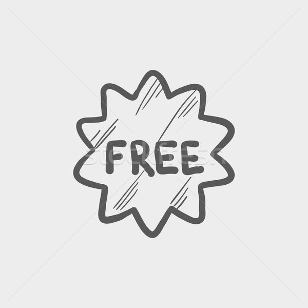 Free tag sketch icon Stock photo © RAStudio