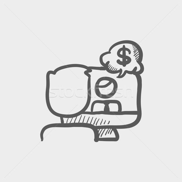 Business discussion sketch icon Stock photo © RAStudio