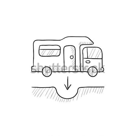 Trolleybus icon drawn in chalk. Stock photo © RAStudio