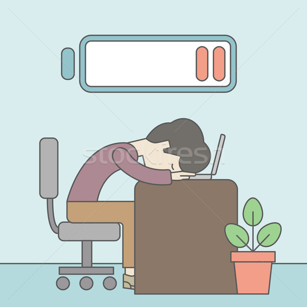 Tired employee. Stock photo © RAStudio
