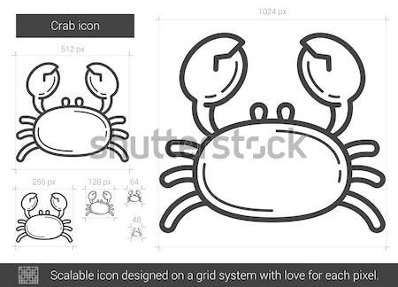 Stock photo: Crab line icon.