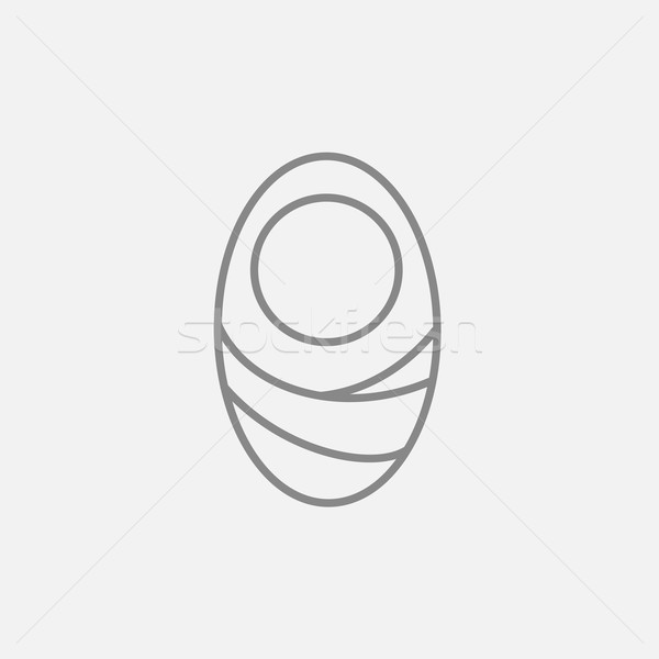 Infant wrapped in swaddling clothes line icon. Stock photo © RAStudio