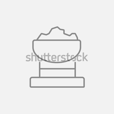 Mine trolley full of coal line icon. Stock photo © RAStudio