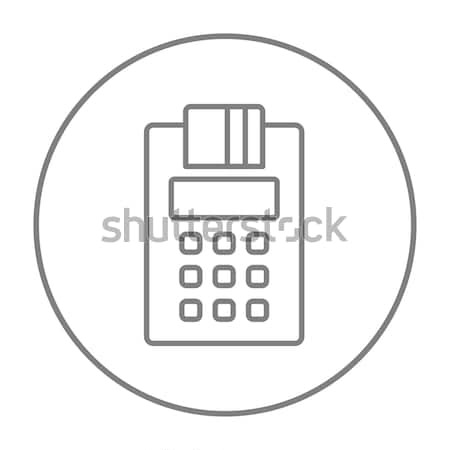 Cash register line icon. Stock photo © RAStudio