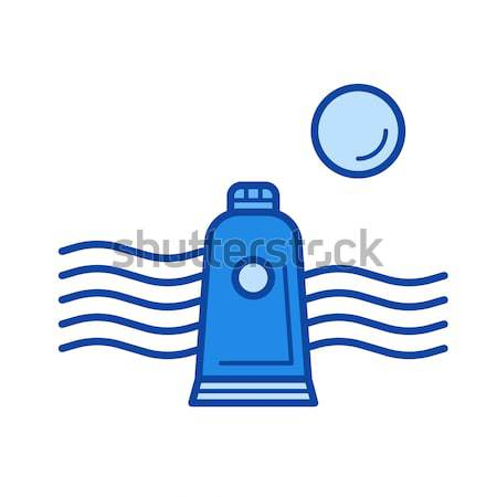 Solar energy and hydropower line icon. Stock photo © RAStudio