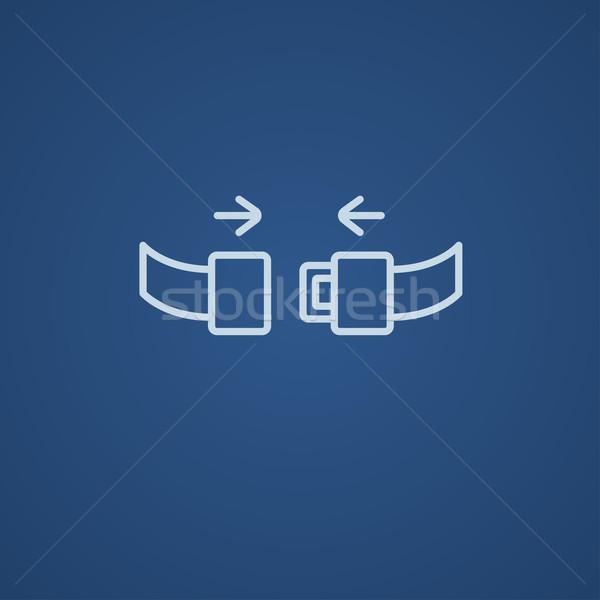 座席 ベルト 行 アイコン ウェブ 携帯 ストックフォト © RAStudio