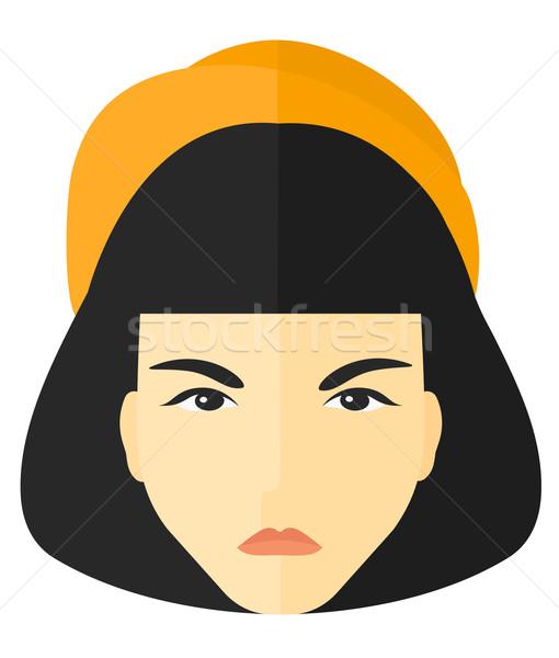 сердиться женщину вектора дизайна иллюстрация изолированный Сток-фото © RAStudio