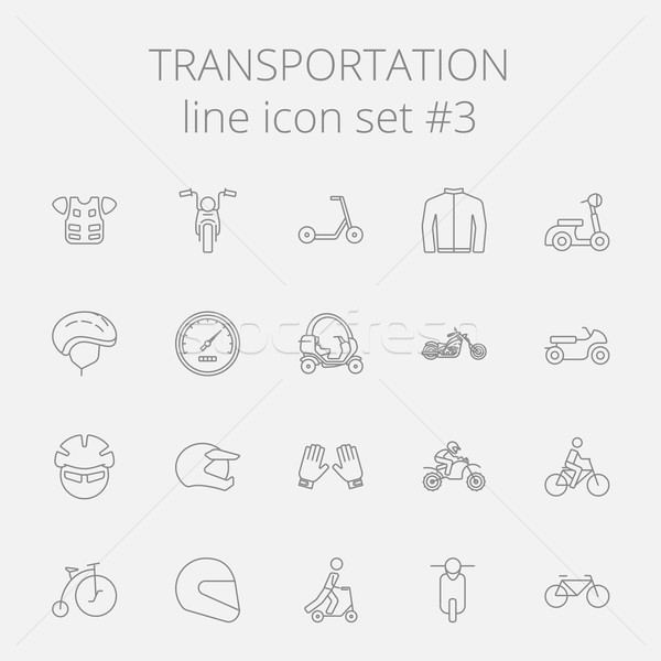 Stock photo: Transportation icon set.