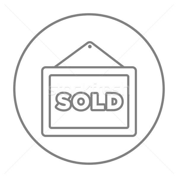 Eladva plakát vonal ikon háló mobil Stock fotó © RAStudio