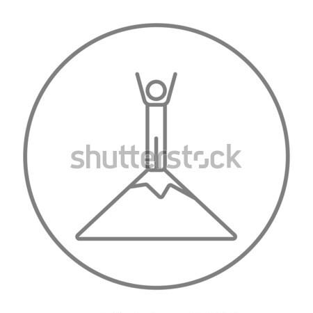 человека Постоянный Top горные линия икона Сток-фото © RAStudio