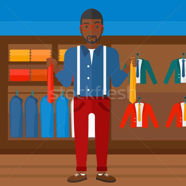 Customer choosing neckties. Stock photo © RAStudio