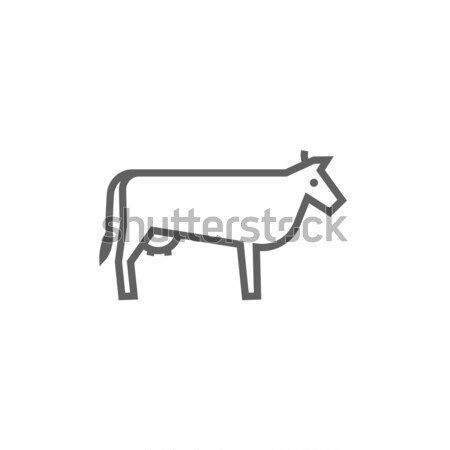 Cow line icon. Stock photo © RAStudio