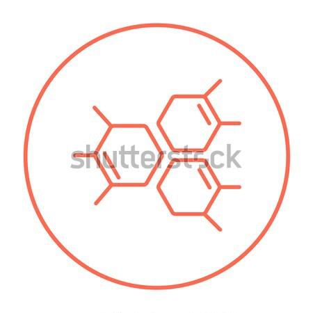 Chemische formule lijn icon web mobiele Stockfoto © RAStudio