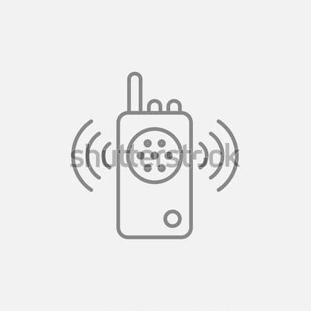 Radio set line icon. Stock photo © RAStudio