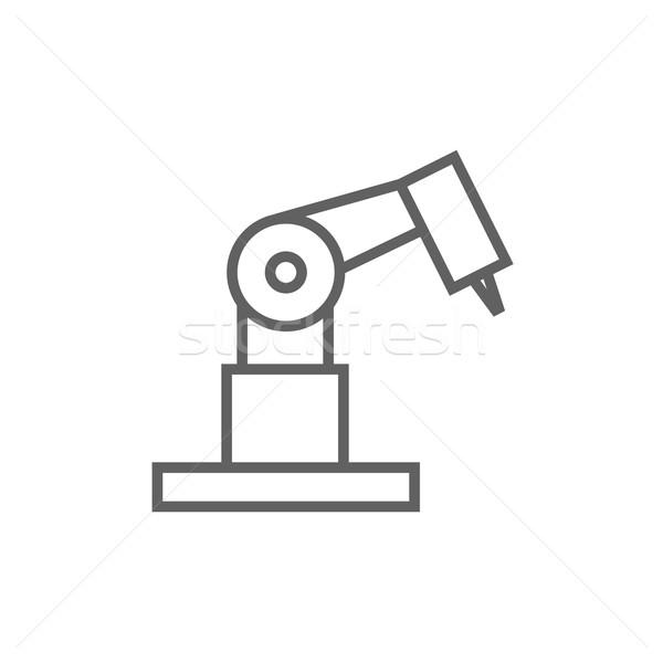 Industrial mechanical robot arm line icon. Stock photo © RAStudio