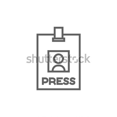 Press pass ID card line icon. Stock photo © RAStudio