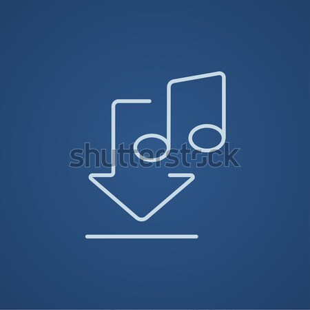 Download Musik line Symbol Ecken Web Stock foto © RAStudio