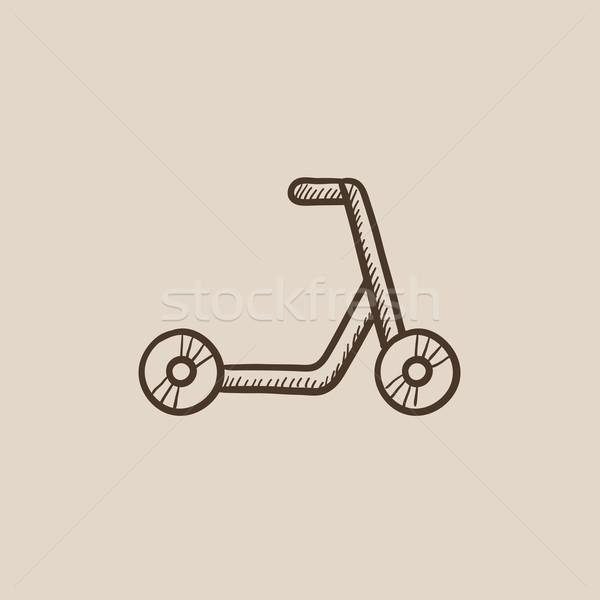 Kick scooter sketch icon. Stock photo © RAStudio