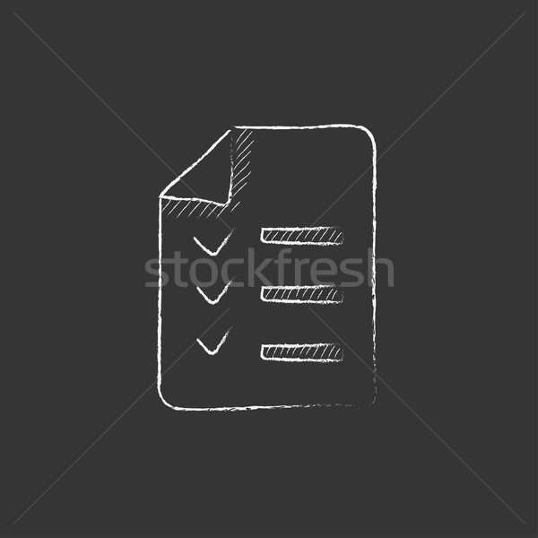 Shopping list. Drawn in chalk icon. Stock photo © RAStudio