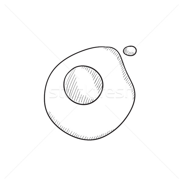 Fried egg sketch icon. Stock photo © RAStudio