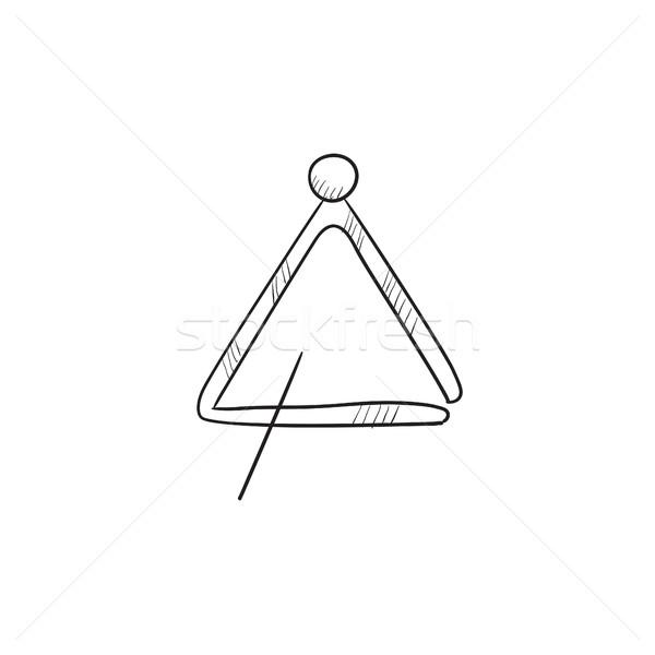 Triangle sketch icon. Stock photo © RAStudio