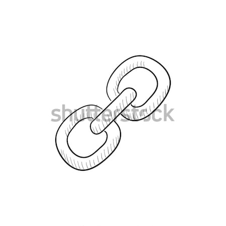 Stock photo: Link sketch icon.