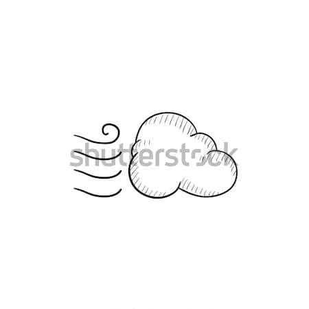 Windy cloud sketch icon. Stock photo © RAStudio
