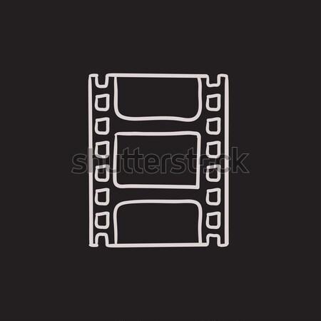 Negatywne szkic ikona wektora odizolowany Zdjęcia stock © RAStudio