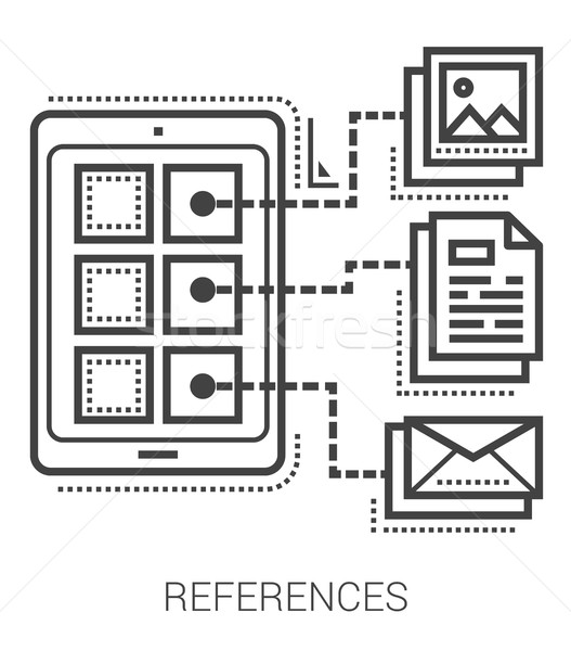 References line icons. Stock photo © RAStudio