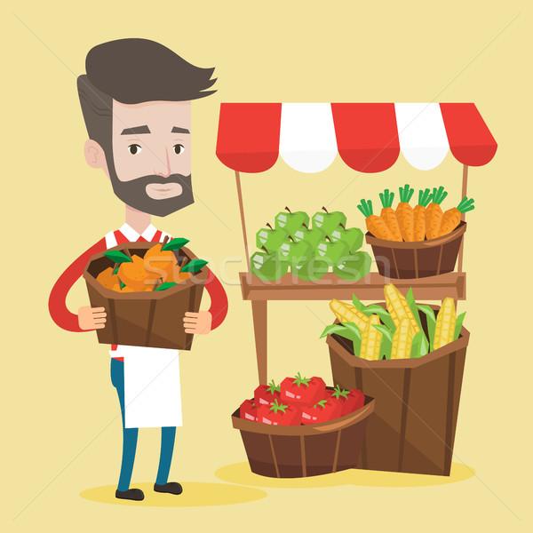 улице продавец плодов овощей зеленщик Постоянный Сток-фото © RAStudio