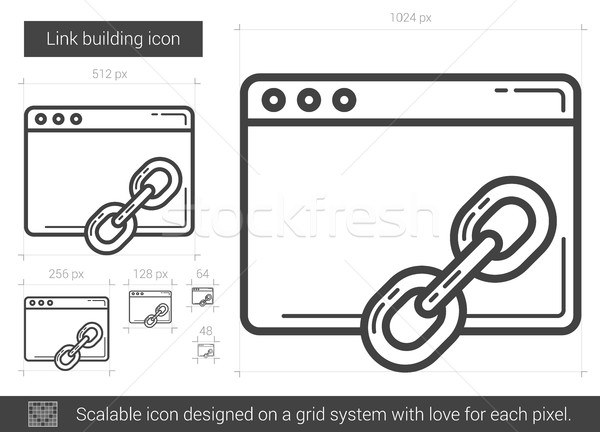 Link building line icon. Stock photo © RAStudio