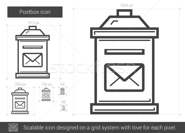 Postbox line icon. Stock photo © RAStudio