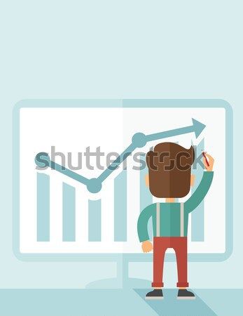 Successful businessman with a chart going up Stock photo © RAStudio