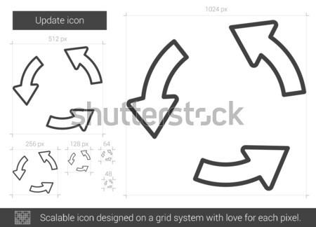 Bijwerken lijn icon vector geïsoleerd witte Stockfoto © RAStudio