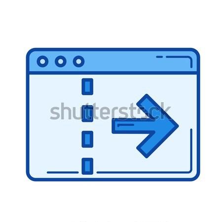 Dados transferir linha ícone vetor isolado Foto stock © RAStudio