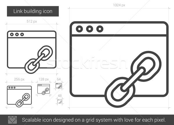 Link building line icon. Stock photo © RAStudio