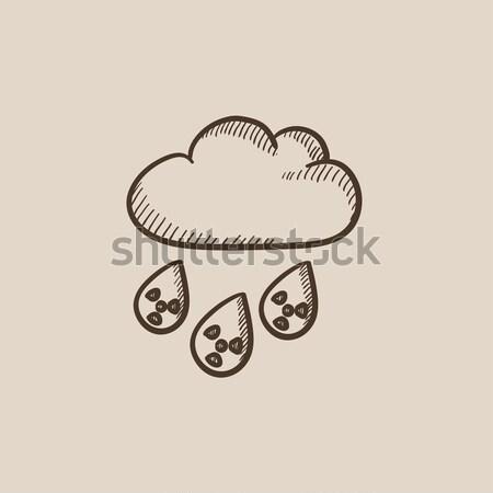 放射性 雲 雨 スケッチ アイコン ベクトル ストックフォト © RAStudio