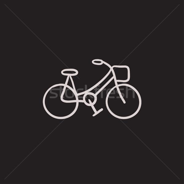 Bicycle sketch icon. Stock photo © RAStudio