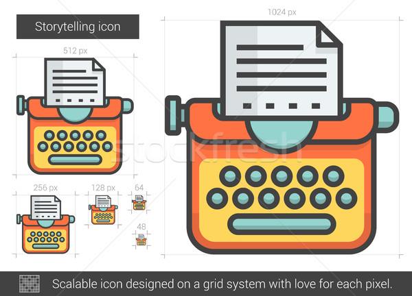 Storytelling line icon. Stock photo © RAStudio
