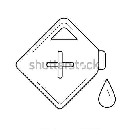 бензина можете линия икона вектора изолированный Сток-фото © RAStudio